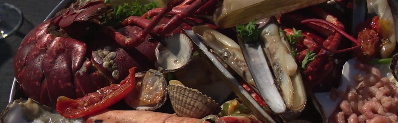 Heerlijk kreeftmenu bij Strandrestaurant our Seaside