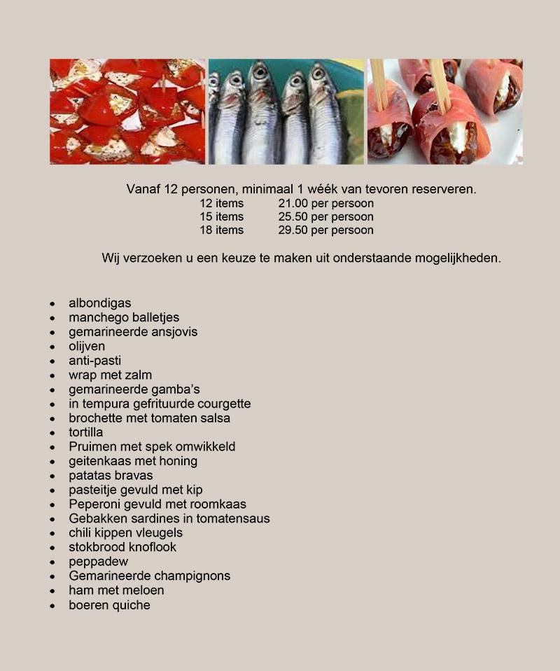 Tapas arrangement NLD 2021